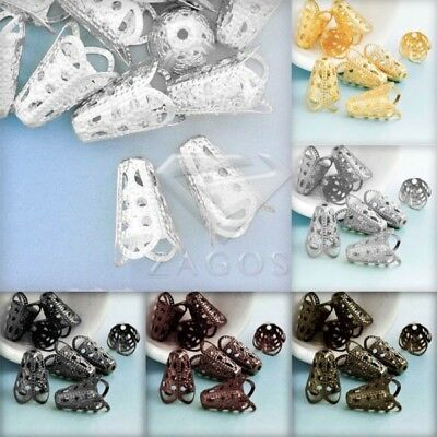 Approx 30-45Pcs Cone Filigree Normal Beads Caps Craft 17x12x12mm Jewelry Finding