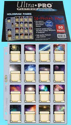 50 ULTRA PRO 16 POCKET PLATINUM PAGES Mini American Star Wars Zombicide Game