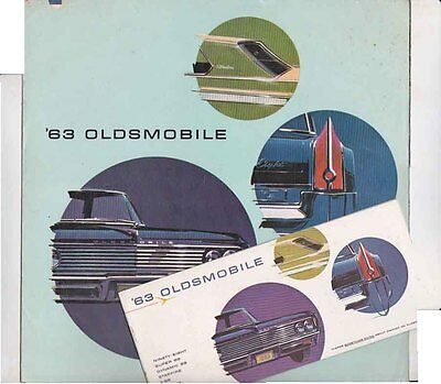 Two 1963 OLDSMOBILE US Range Large and Small Format Brochures 98 88 Starfire F85