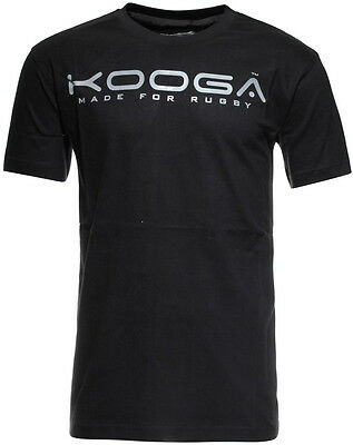 Kooga Off The Field Rugby Logo Mens Short Sleeve Top - Black