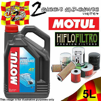 5L Motul Inboard 15W40 Engine Oil & Hiflo Hf556 Filter Change Seadoo Gtr215 2012