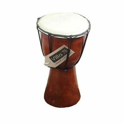 25cm Bongo / Djembre Drum, Goat Skin Hyde Mahogony Wood Great Value!!
