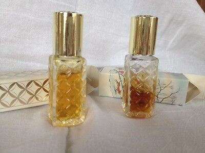 Avon Vintage Here's My Heart Perfume Rollette Roll On!!  Boxed!  Rare!! Lot of 2