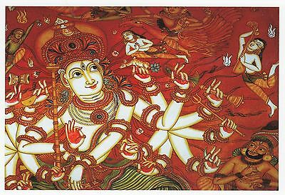 (82083) Postcard India Kerala Temple Mural - un-posted