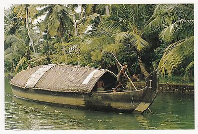 (82089) Postcard India Kerala Backwaters Boat #5  - un-posted