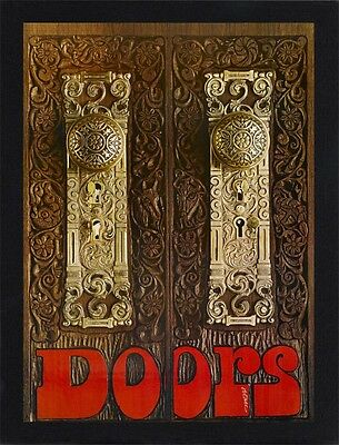 Framed The Doors Promo Poster A4 Size Mounted In Black / White Frame