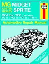 MG Midget Austin Healey Sprite Repair Manual NEW 58-80 Service Book Owners Shop