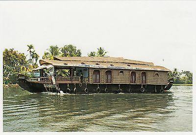 (82111) Postcard India Kerala Backwaters Boat #8 - un-posted