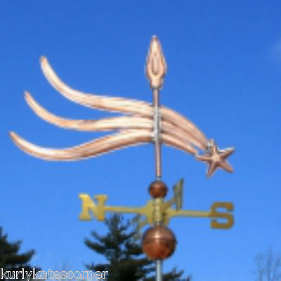 "Copper ""  ""fancy Shooting Star "" Weathervane  Made In Usa #271"