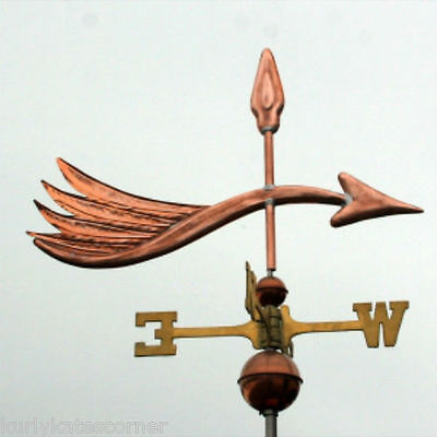 "Copper ""  ""fancy Arrow "" Weathervane  Made In Usa #278"