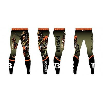 Booster- Compression Spats. Motiv: kämpfender Affe. S-XL. RG LS WARRIOR MONKEY.
