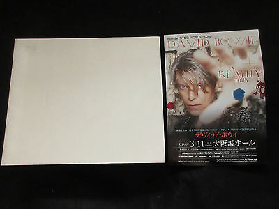David Bowie 2004 Reality Japan Tour Book w Japan Flyer Concert Program Glam Rock