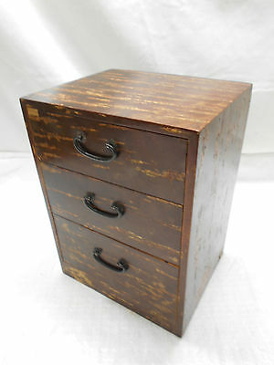 Vintage CherrywoodDressing Table Box Jewellery Japanese Drawers Circa 1980s #417