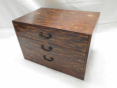 Vintage Cherrywood Box Japanese Drawers Circa 1980s #422