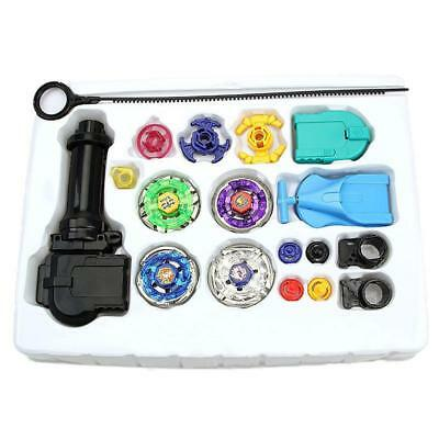 4D Metal Master Fusion Top Rapidity Fight Rare Launcher Grip Beyblade Set