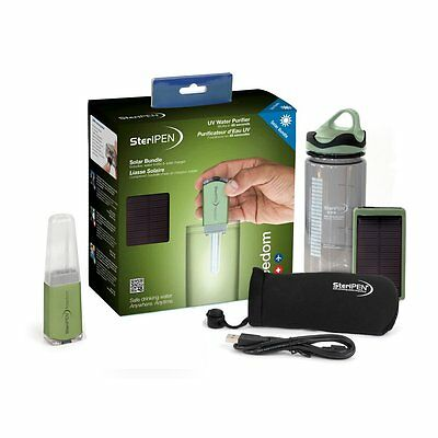 SteriPEN Freedom Solar Bundle UV Water Purifier Camping Hiking Survival