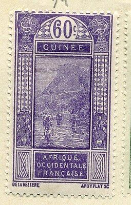 FRENCH COLONIES :;  1913-17 early pictorial issue Mint hinged 60c. value