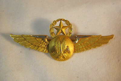 Vintage American Airlines Gold Filled Crew Wings Commericial Aviation  T*