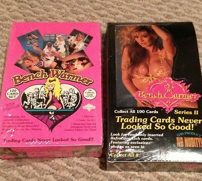 Bench Warmer Trading Cards Lot Of 2 Factory Sealed Boxes. Series 1 & 2