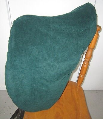 Horse Stock / Western / Swinging Fender Saddle cover FREE EMBROIDERY Dark Green