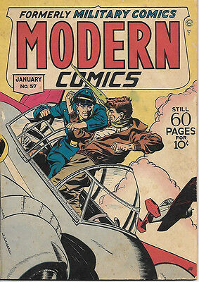 Modern Comics Comic Book #57, Quality Comics 1947 VERY GOOD-