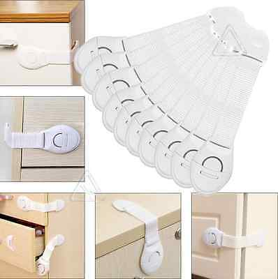 New Baby Child Pet Safety Safe Lock Fridge Toilet Drawer Cabinet Cupboard Door