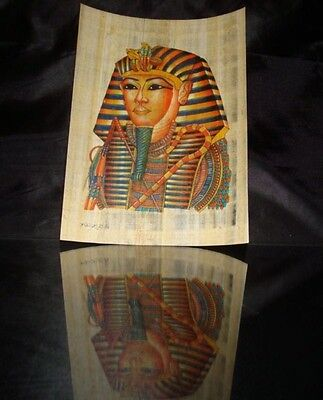 Tutankhamun Ancient Egyptian Papyrus Wonderfuly Handmade Colorful Superior Piece