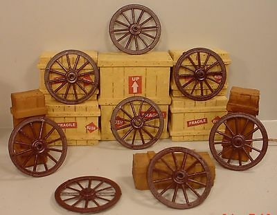 Wagon Wheels (8) Miniatures 1/24 Scale G Scale Diorama Accessory Items