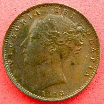 1853 - Victoria - Farthing Young Head - GVF/EF - MW004A