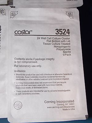 3524 Costar Corning 2Ml 24Well Cell Culture Cluster Flat Bottom W/Lid Case Of 36