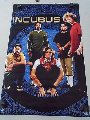 "Incubus - Orig. poster #9074 / Group / VG. New cond. 22x34"" slight damage"