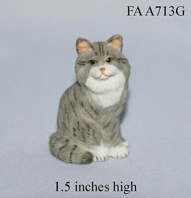 PERSIAN CAT 1:12 Scale Dollhouse Miniature Animal Pet Adult Collectable FALCON