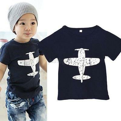 Fashion New Toddlers Baby/Kids Boys T-Shirt Short-Sleeved Plane Tees Cotton Tops