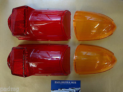 2 x MG MGB Rear Indicator & Brake Lamp Lense Set (Lucas) (57H5354/7)
