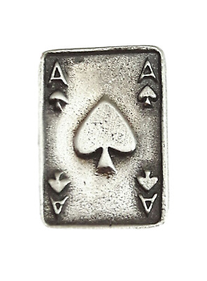 Ace of Spades Handcrafted From English Pewter Lapel Pin Badge + Gift Bag
