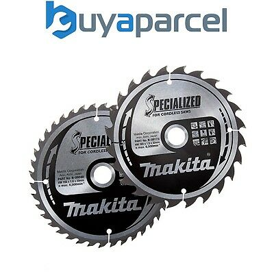 Makita B-49317 Specialized TCT Saw Blades for Wood 165mm x 20mm x 24 + 40 Tooth