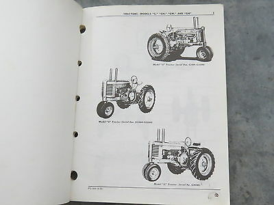 John Deere model G GN GW GH Tractor Parts Manual Catalog PC-369 faded cover