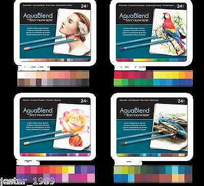 NEW - Crafters Companion Spectrum Noir AquaBlend Artists Watercolour Pencils