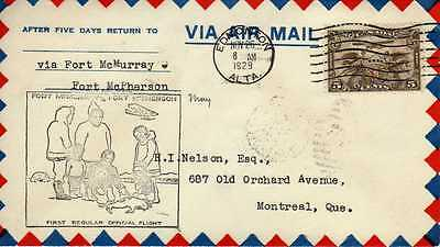 CANADA 1ers vols first flights airmail 138