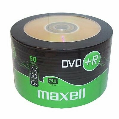 50 Maxell DVD+R RECORDABLE 16x Speed Blank Discs 4.7GB