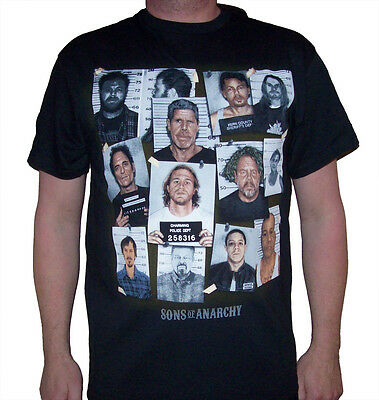Men's Sons of Anarchy Group Mugshot T-shirt   ( NEW ) (SOA34A)
