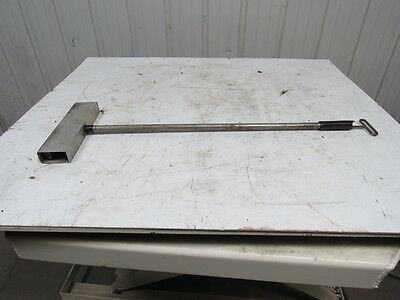 "11"" Magnetic Floor Sweeper Scrap Metal Nail Pickup W/Release Non-Wheeled"