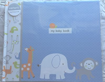 New Carters Blue Monkey Pals Baby Boy Memory Book
