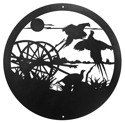 """SWEN Products PHEASANT ROOSTER Steel 12"""" Scenic Art Wall Design"""