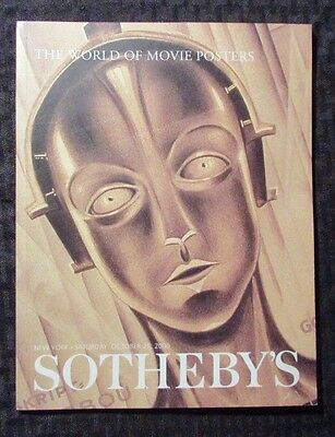 2000 Sotheby's WORLD OF MOVIE POSTERS Auction Catalog NM SC Metropolis 96pgs