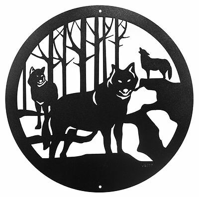 "SWEN Products WOLF WILDLIFE COYOTES Steel 12"" Scenic Art Wall Design"