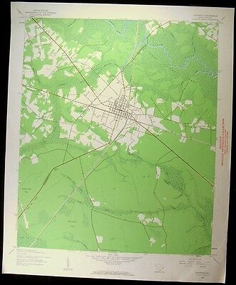 Andrews South Carolina Georgetown 1962 vintage USGS original Topo chart map