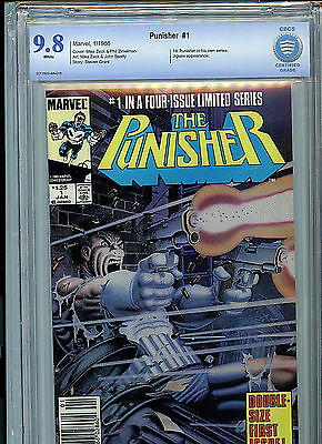 The Punisher #1 Marvel Comics CBCS 9.8 NM/MT 1986 #1 in 4 Part Series