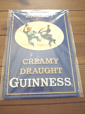 Guinness Creamy Draught embossed metal Pub Sign, Genuine Licensed Product