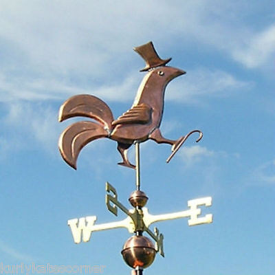 "Copper   "" Fancy  Dancing Rooster  "" Weathervane  Made In Usa #250"